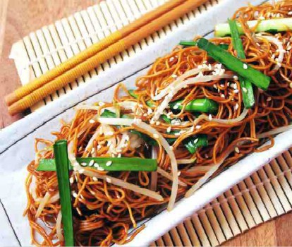 chinesefoodsrecipe-pan fried noodles